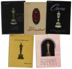 Collection of Academy Awards Programs From 1982-1986