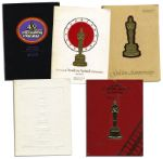 Collection of Academy Awards Programs From 1977-1981