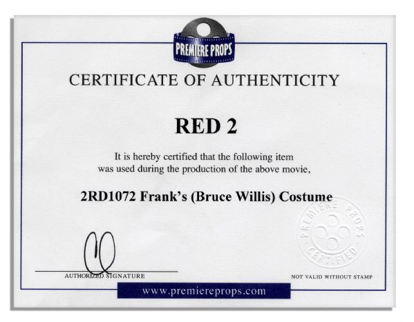 Bruce Willis Costume for Red 2