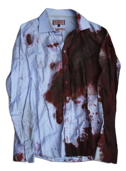 Bradley Cooper Screen-Worn Wardrobe From ''Limitless'' -- Heavily Distressed With Prop Blood