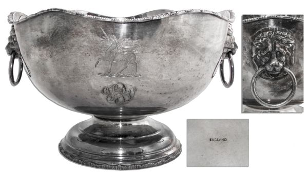 Darryl F. Zanuck's Monogrammed Silver Monteith Bowl -- With a COA From the Zanuck Estate