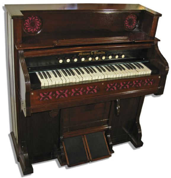 Exceptionally Rare John Lennon Personally Owned & Played Musical Instrument -- Reed Organ Made of Walnut in Dark Finish -- With Provenance From Sotheby's