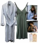Jennifer Lopez Hero Silk Nightgown & Terry Robe From The Back-Up Plan