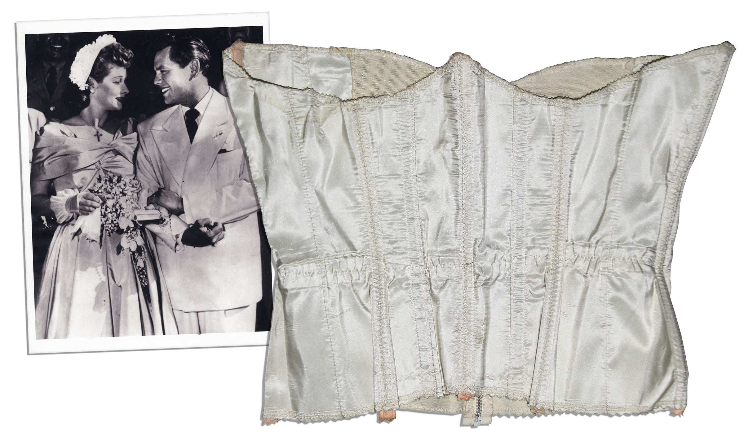 Lucille Balls Corset From Her Second Wedding To Desi With A COA Lucie