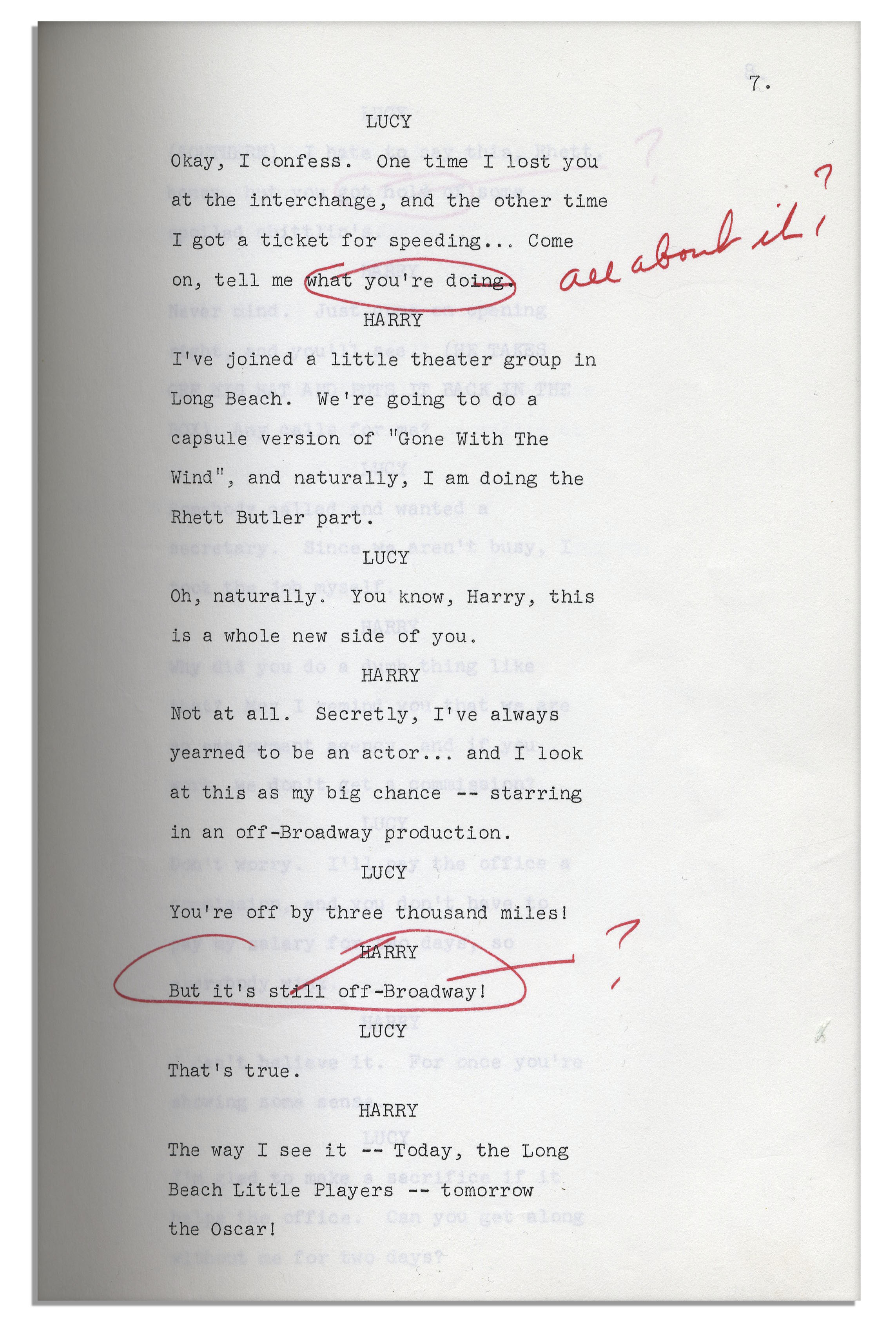 Lot Detail Lucille Ball Personally Owned Script From Her 1968 Show
