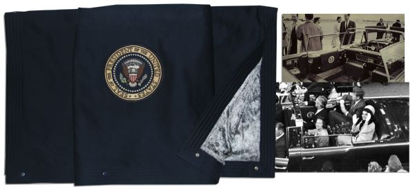 John F. Kennedy's Presidential Blanket Present in the Limo & Bloodied Upon His Assassination -- With Impeccable Provenance