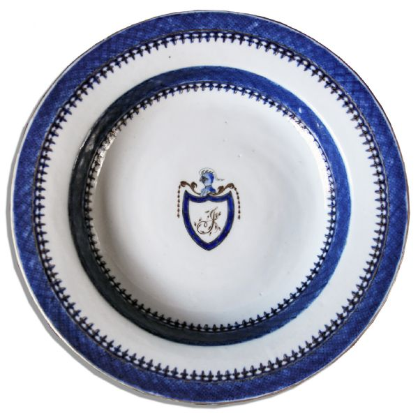China Plate From Thomas Jefferson's White House -- Very Scarce, in Near Fine Condition