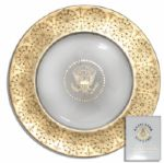 Stunning Eisenhower White House Used China -- 11.5 Plate by Castleton China, Inc. -- Expertly Crafted With Exquisite Border Made of Pure Gold