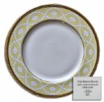 Bill Clinton White House China -- Entree Plate by Lenox From the Year 2000 -- Part of the First Order & Used in the White House