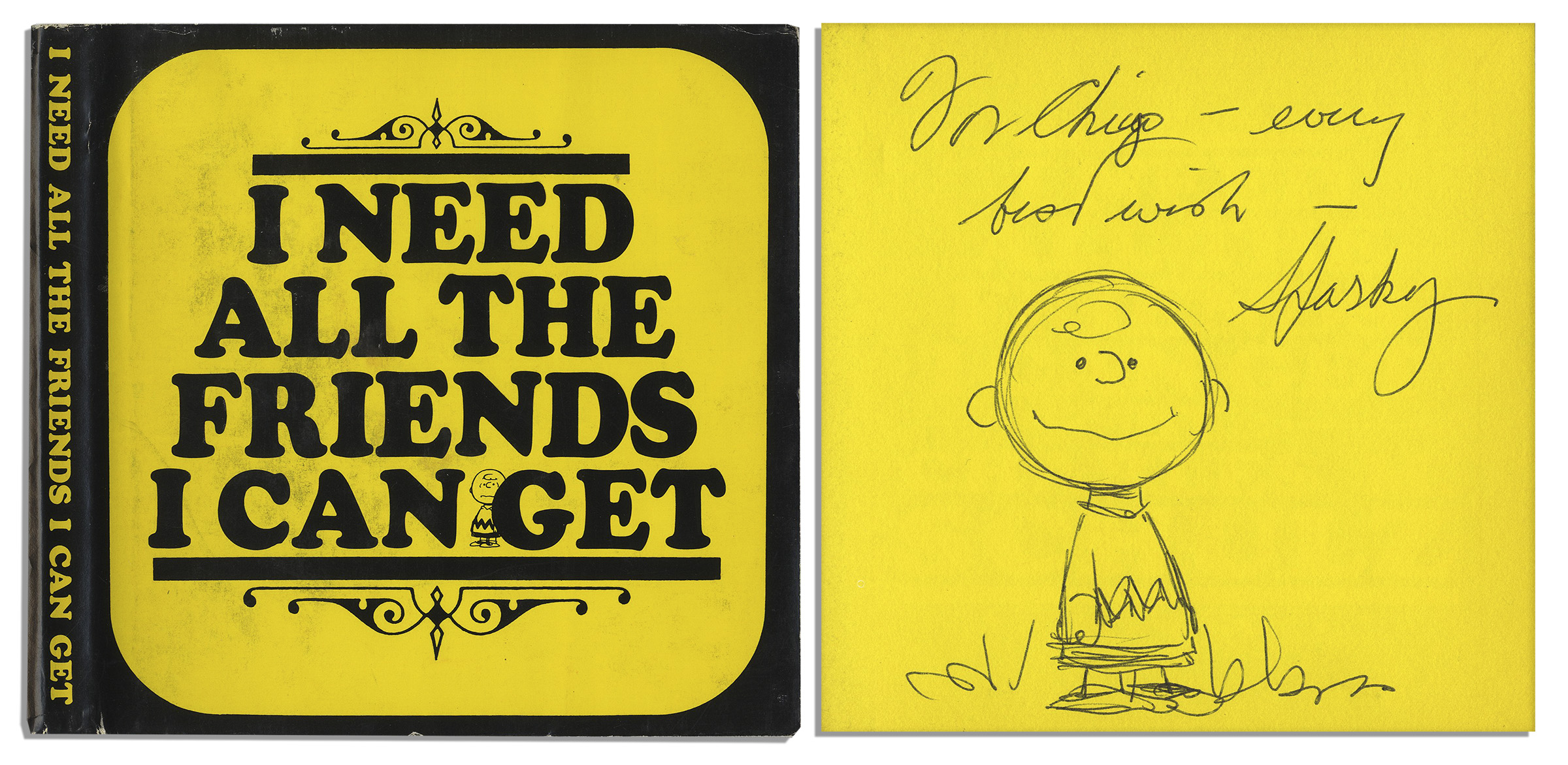 Charles Schulz Snoopy sketch signed item