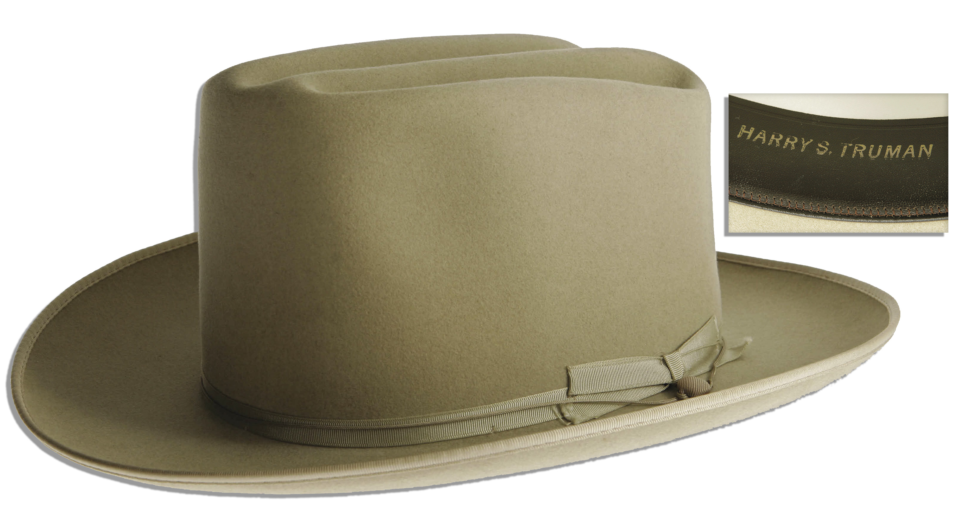 Harry Truman Memorabilia Harry Truman's Personally Owned Stetson Hat