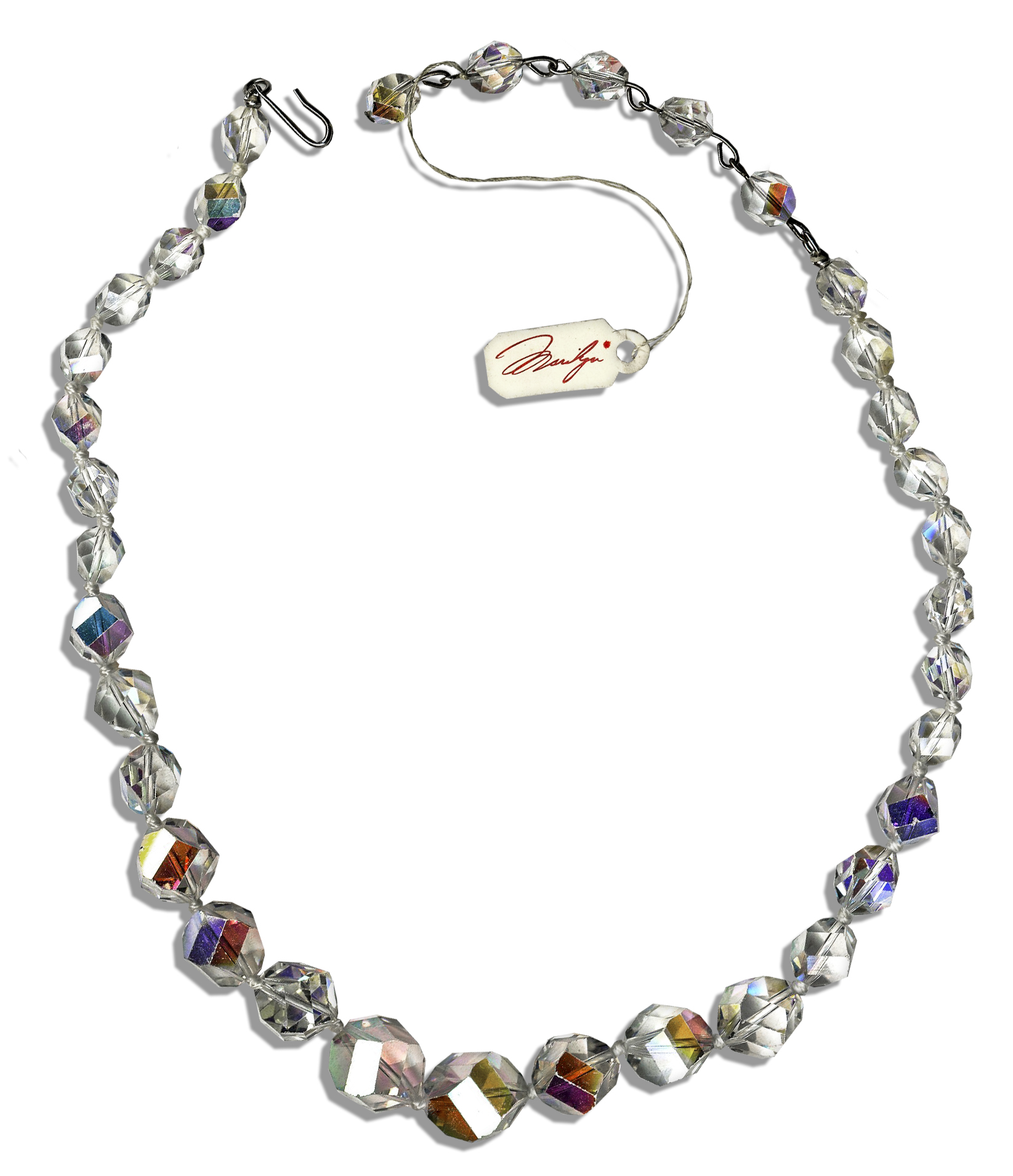 Marilyn Monroe Jewelry Auction Marilyn Monroe Personally Owned Crystal Necklace