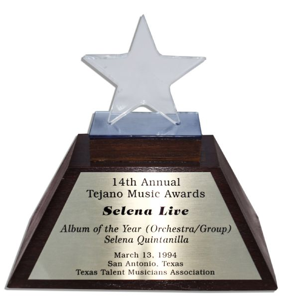 Queen of Latin Music, Selena's Official 1994 Tejano Music Award for Album of the Year -- Just a Year Before Her Tragic Death