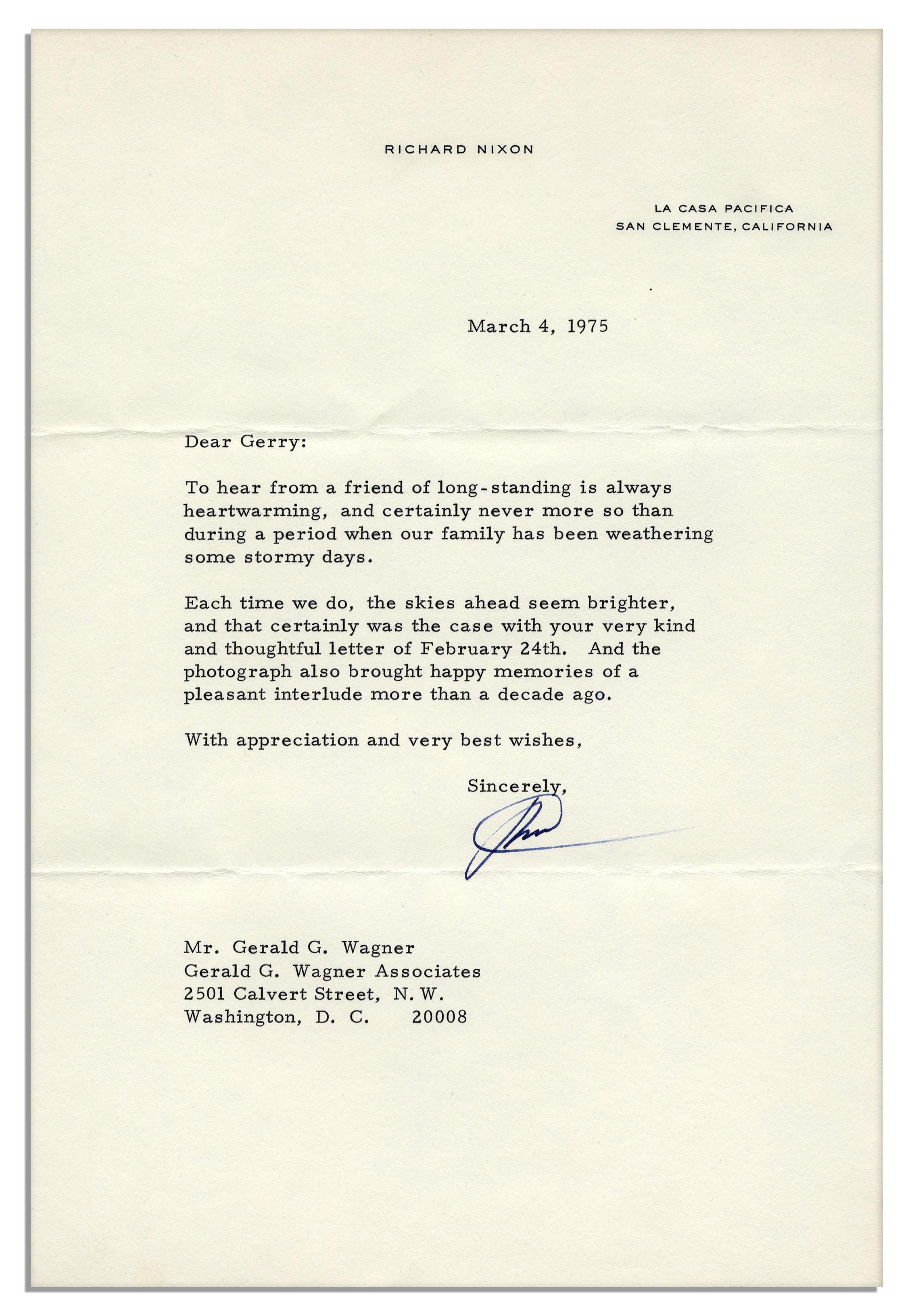 Richard Nixon Resignation Letter Gallery Letter Format Formal Sample