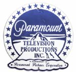 1950s Paramount Pictures Sign -- Metal Sign Measures 20 x 19.75