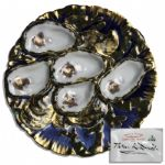 White House Used China -- Oyster Plate in the Rutherford B. Hayes Pattern Ordered by Either the Arthur or Cleveland Administrations