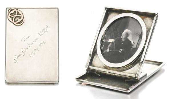 Queen Victoria Silver Photo Frame by Wright & Davis, Circa 1898