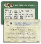 Peter Lawford Air Travel Card