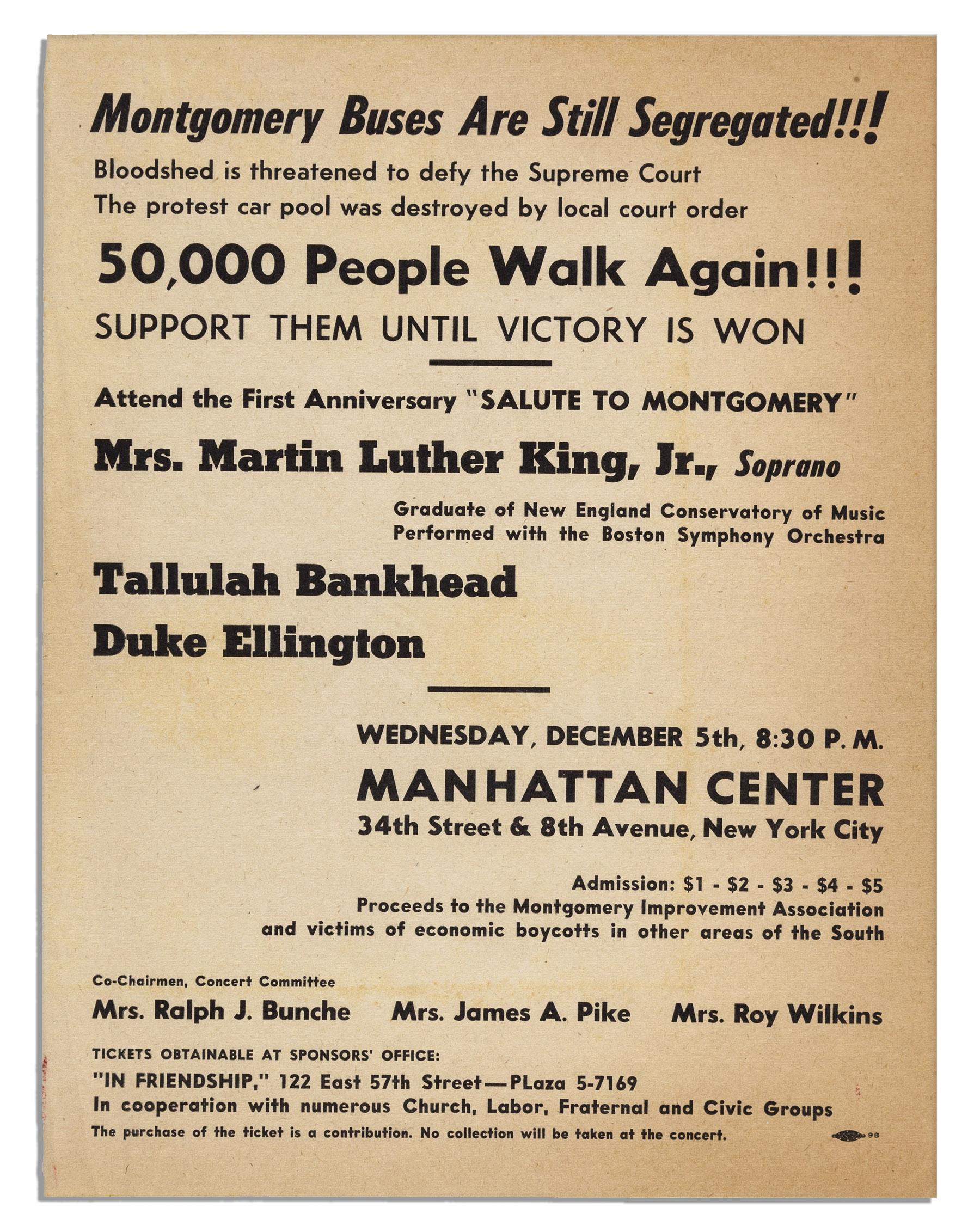 Montgomery Bus Boycott Flyer Ruaya My Dream Co