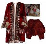 Gerard Depardieu Man in the Iron Mask Red Velvet Musketeer Costume
