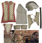 Ben-Hur Costume Worn Onscreen in The Legendary Chariot Race Scenes -- One of The Most Breathtaking Sequences in Cinematic History