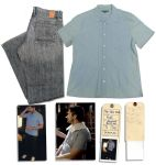 Gerard Butler Screen-Worn Shirt & Jeans From the Romantic Comedy The Ugly Truth
