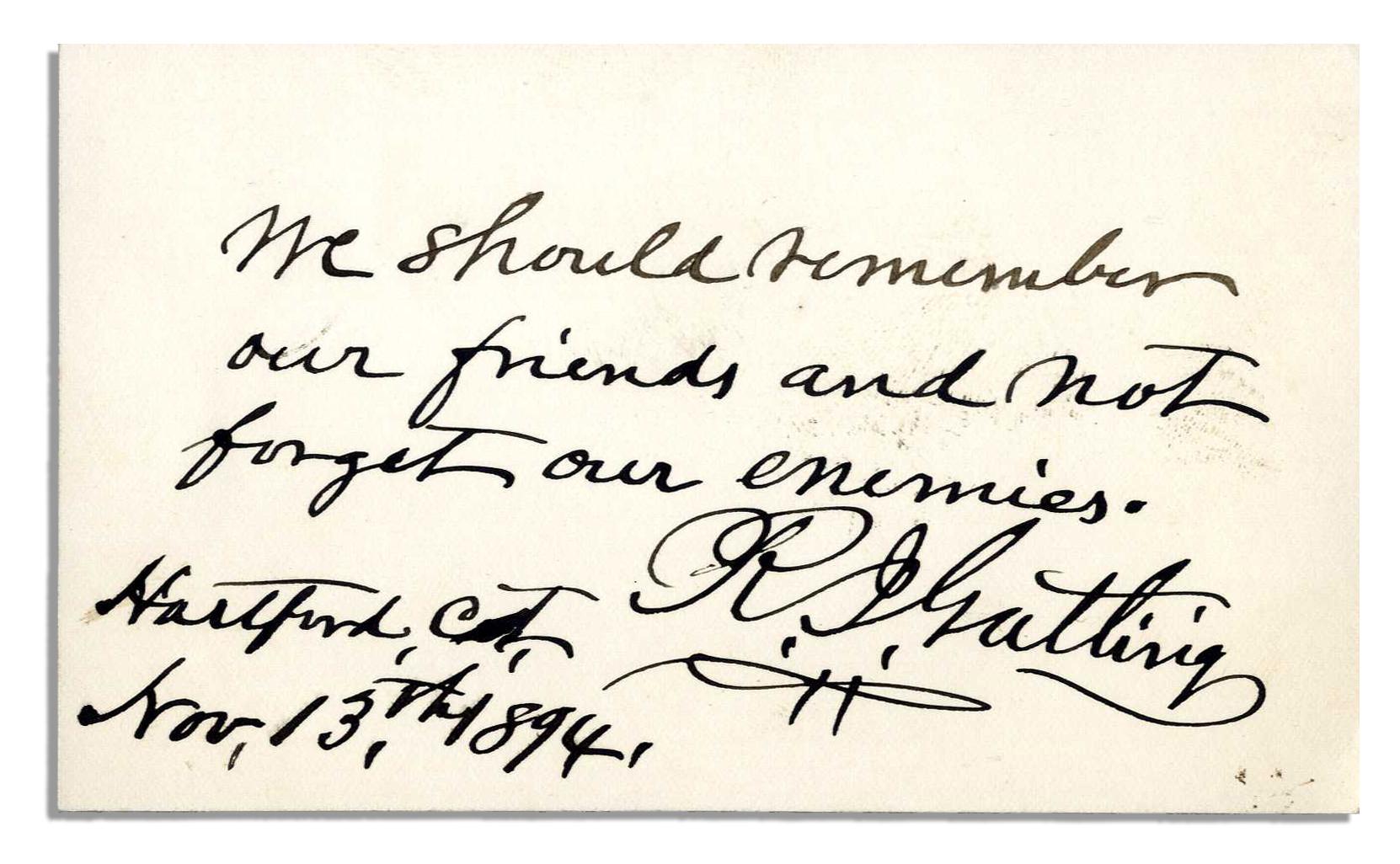 machine gun autograph