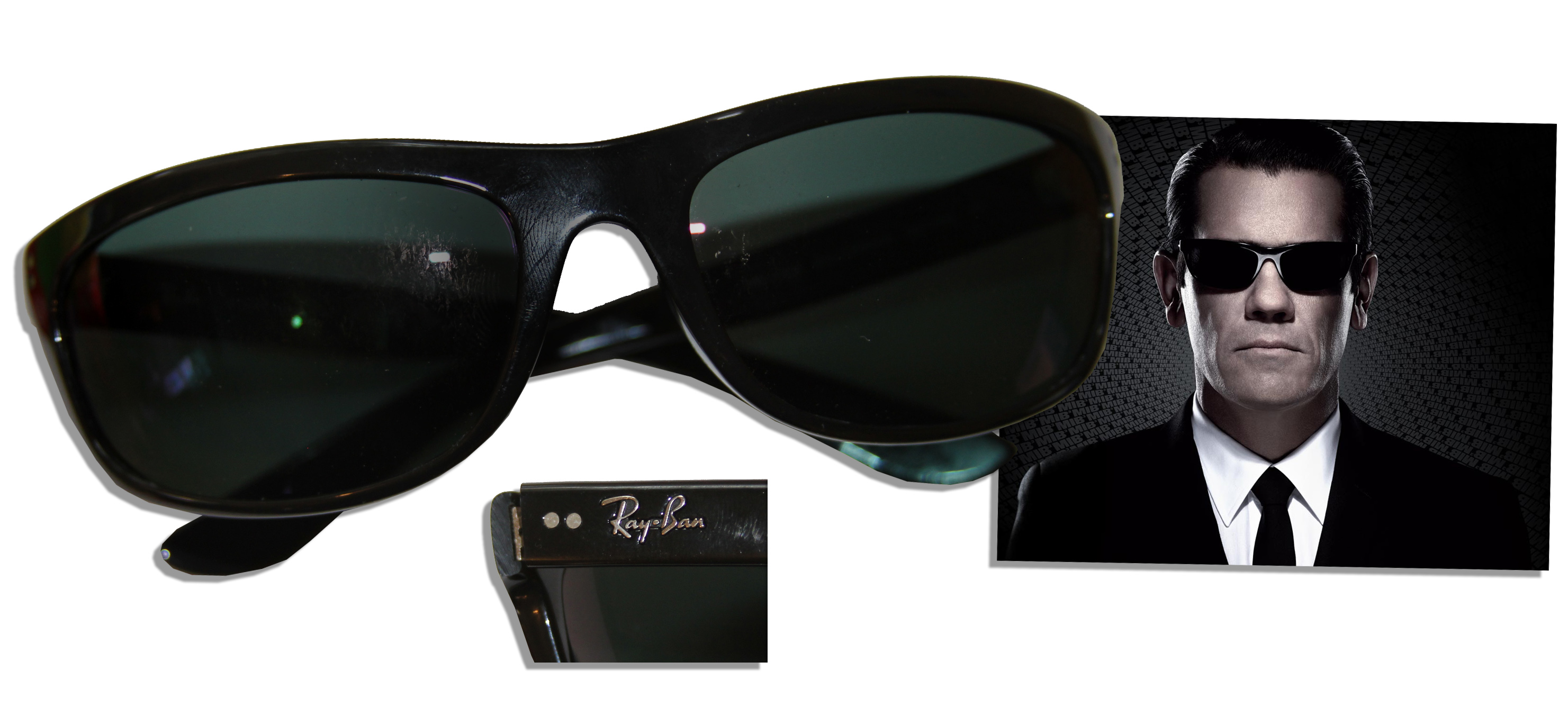 e359b062b7 Lot Detail -   Men in Black 3   Ray Ban Sunglasses Used by Josh Brolin