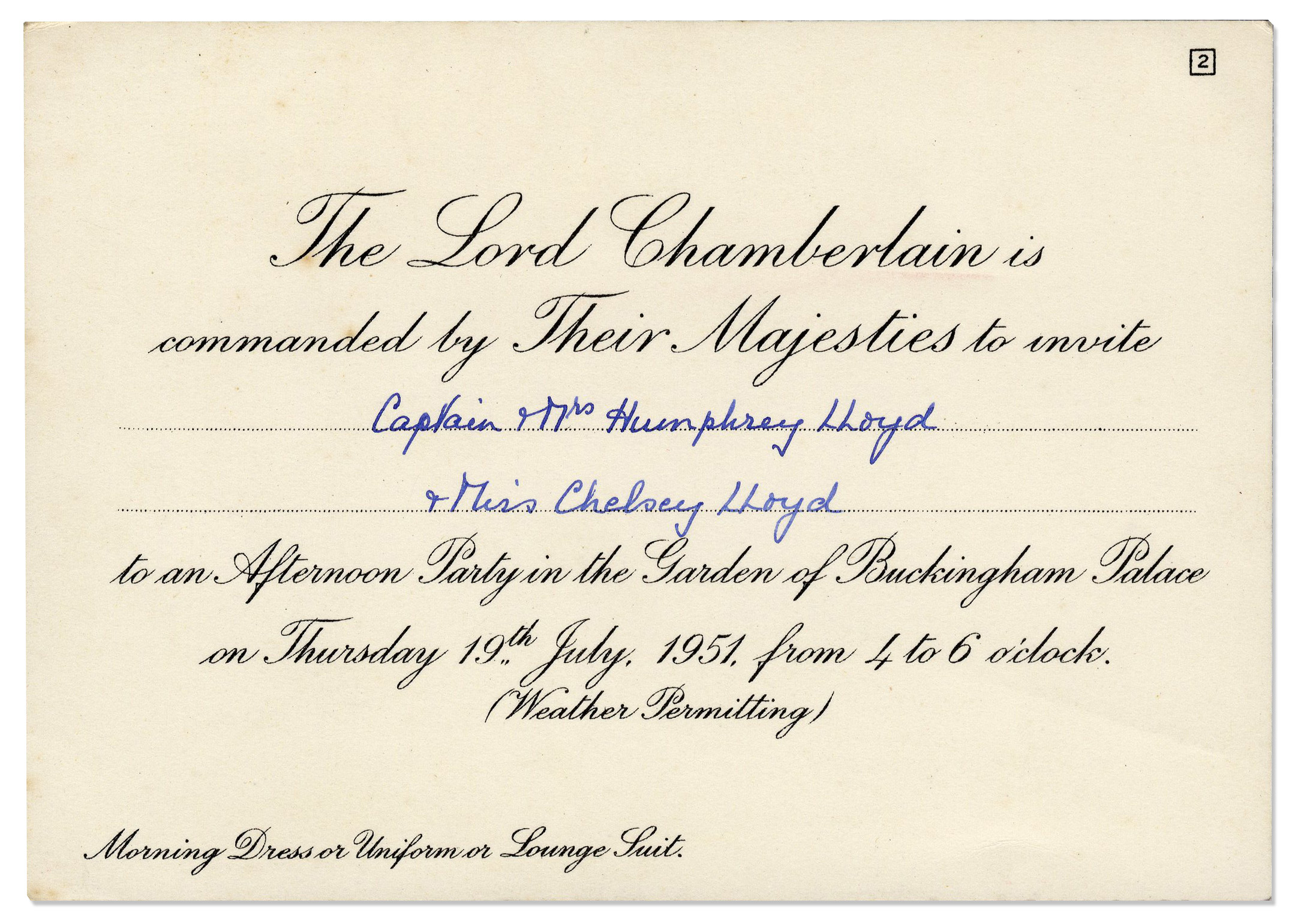 Lot detail king george vi queen elizabeth buckingham palace king george vi queen elizabeth buckingham palace invitation stopboris