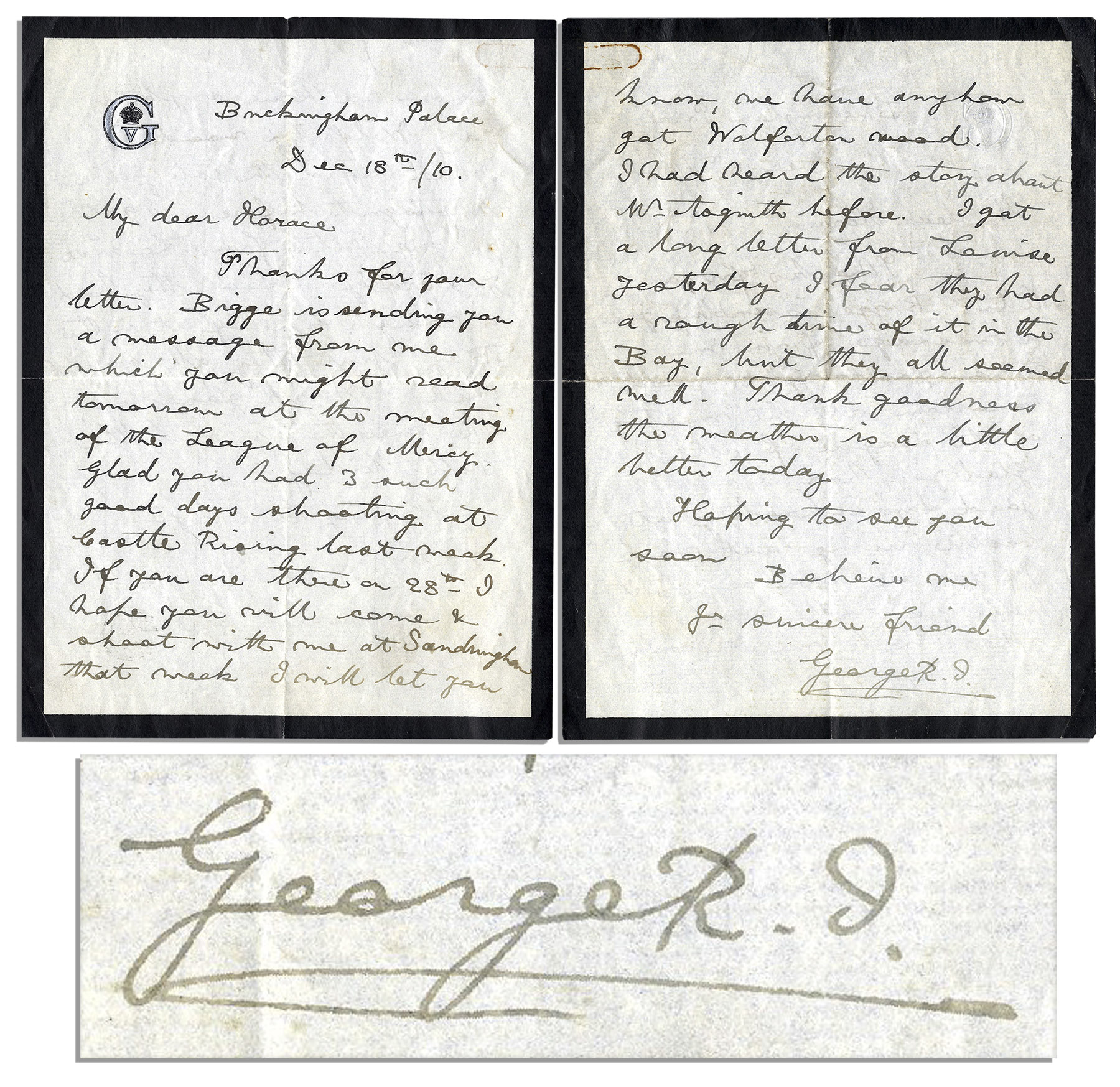 written letters lot detail king george v autograph letter signed from 25853