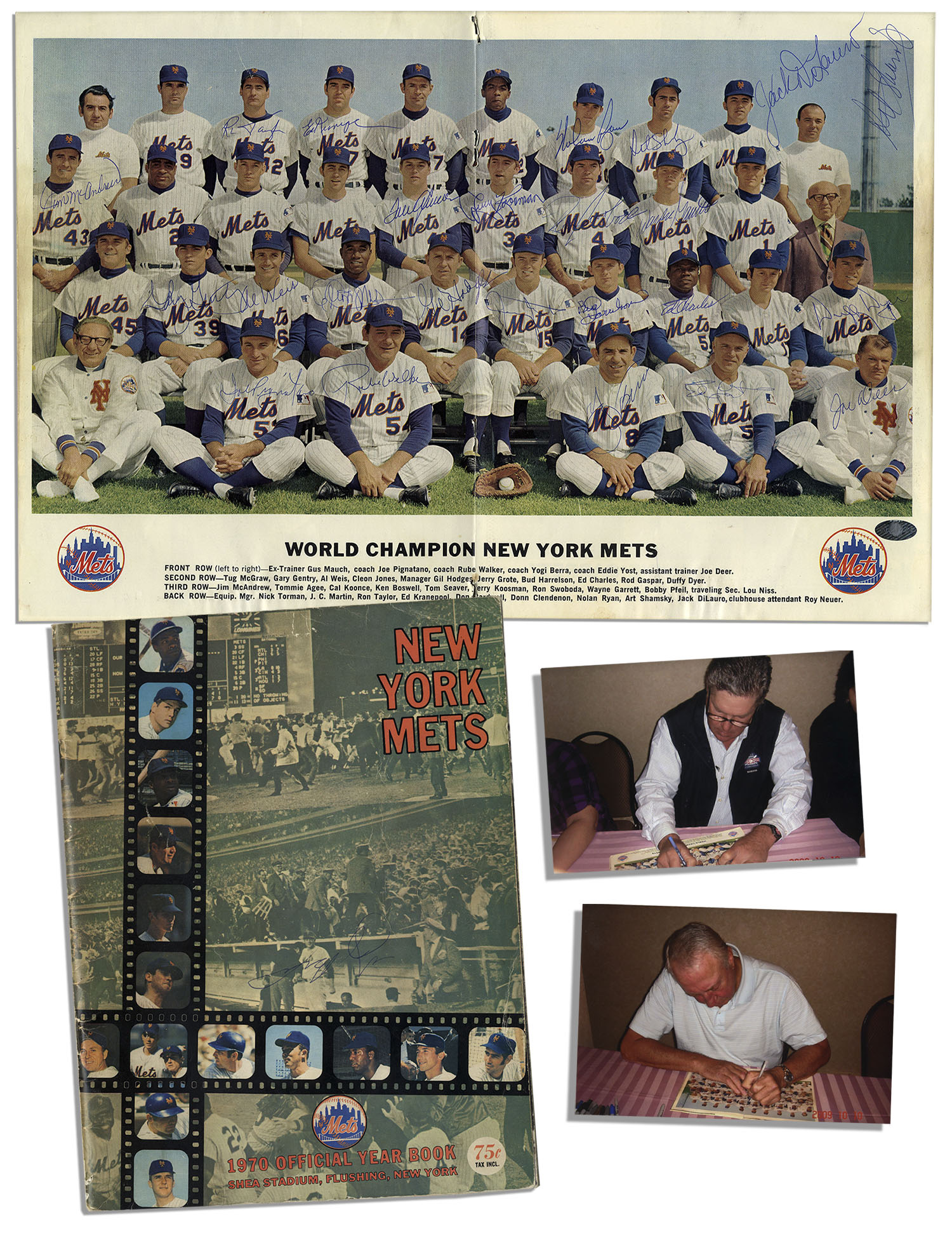 Lot Detail - World Series Champion New York Mets 1969 Team
