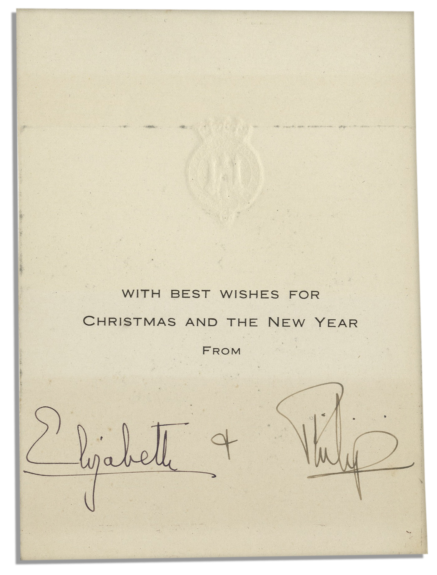 queen elizabeth ii prince philip signed christmas card early signature by elizabeth as - Christmas Card Signatures