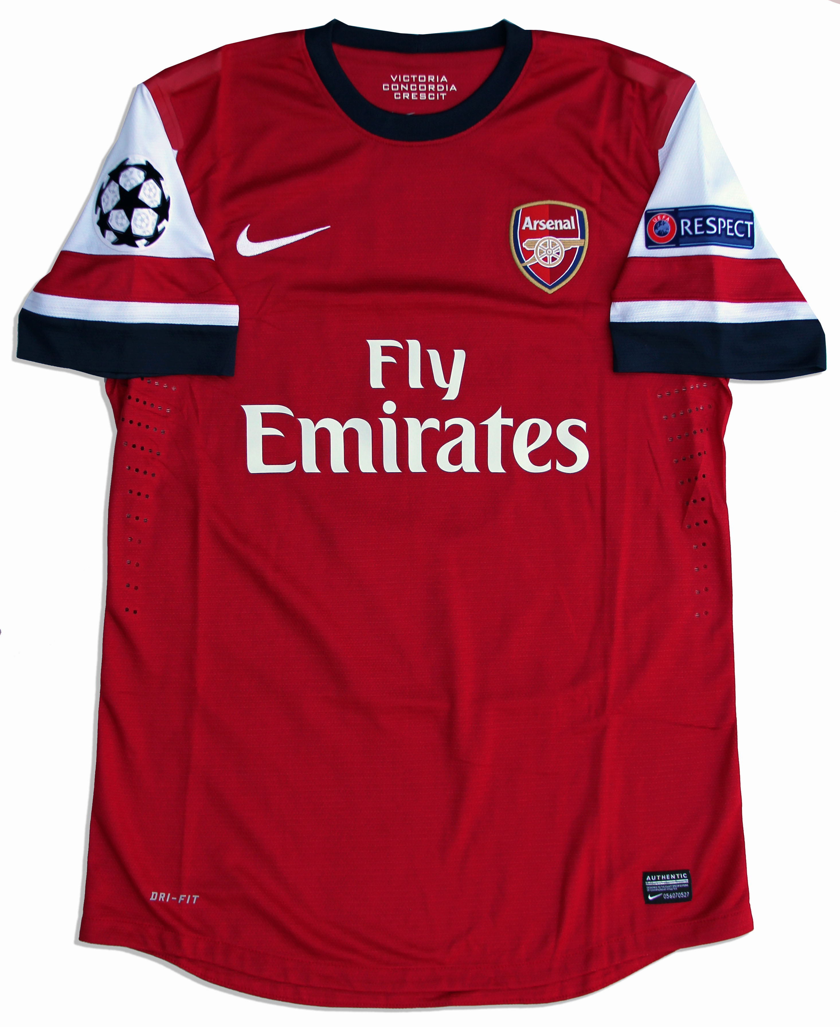 cheap for discount 91af7 b685a Lot Detail - Lukas Podolski Match-Worn Arsenal Home Jersey ...
