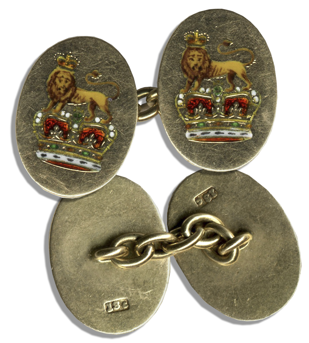 King Edward Memorabilia Duke & Duchess of Windsor Owned Royal Cufflink