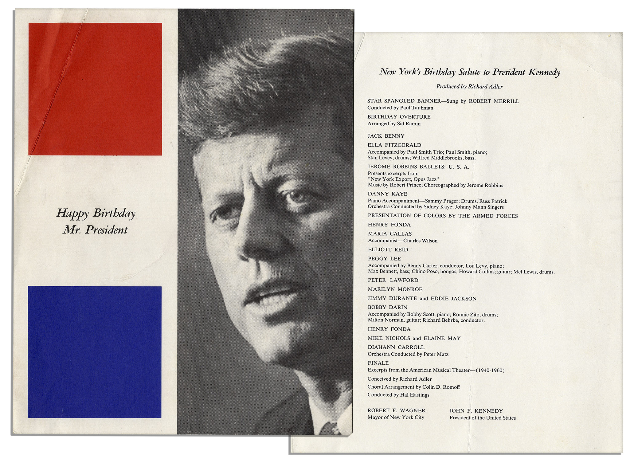 lot detail program from new york s birthday salute to program from new york s birthday salute to president kennedy at madison square