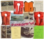 Amazing Movie Memorabilia From Jaws -- Life Jackets Worn by Richard Dreyfuss, Robert Shaw, Roy Scheider and Steven Spielberg -- Call Sheets & Dozens of Photos