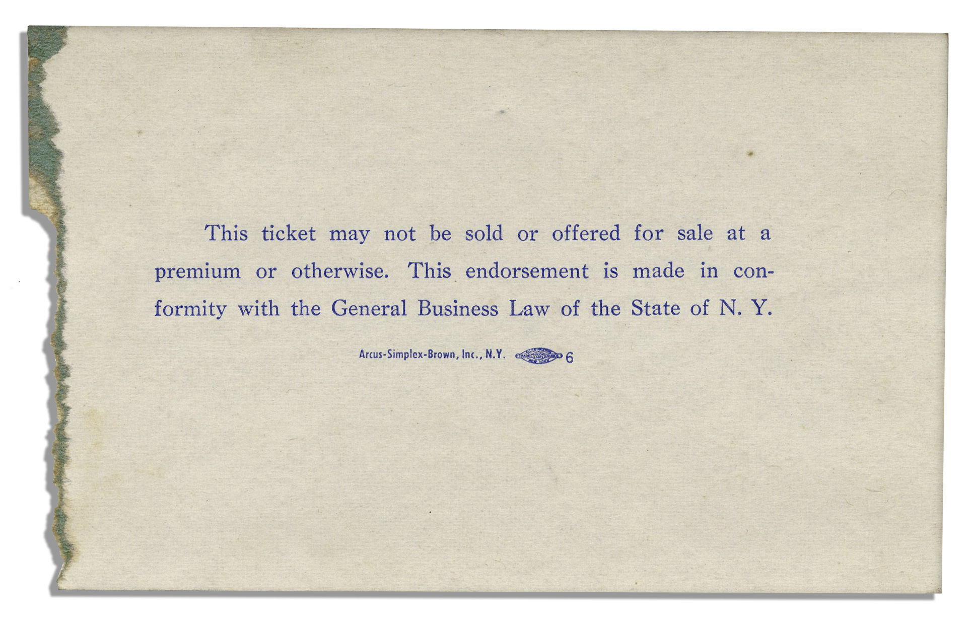 Lot Detail Ticket From New York s Birthday Salute To President