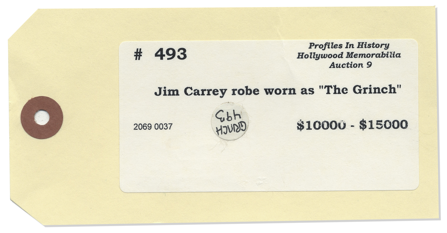 ... Jim Carrey Screen-Worn Cloak as The Grinch -- With Green Grinch Mask