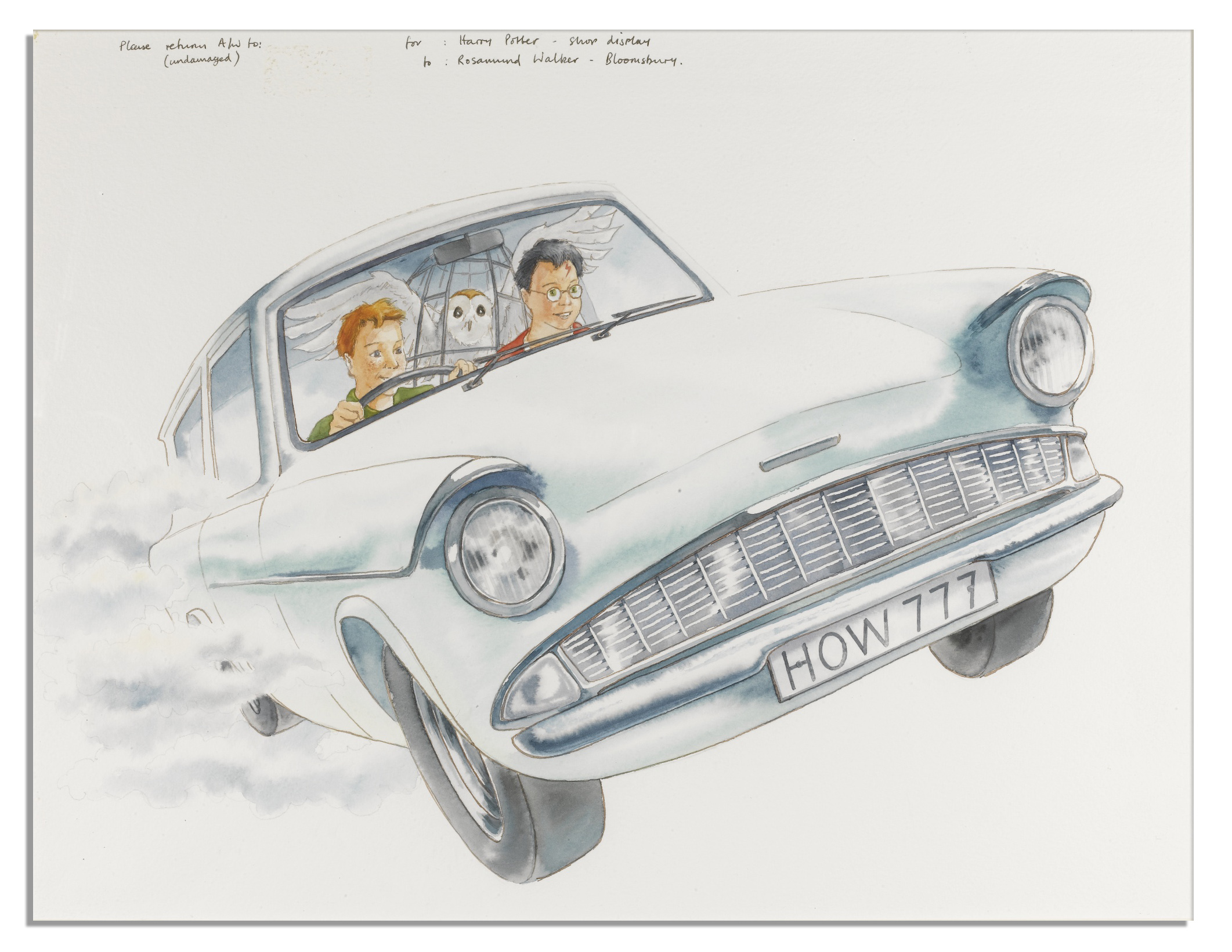 Lot Detail Original Artwork For The Cover Of Harry Potter And Chamber Secrets
