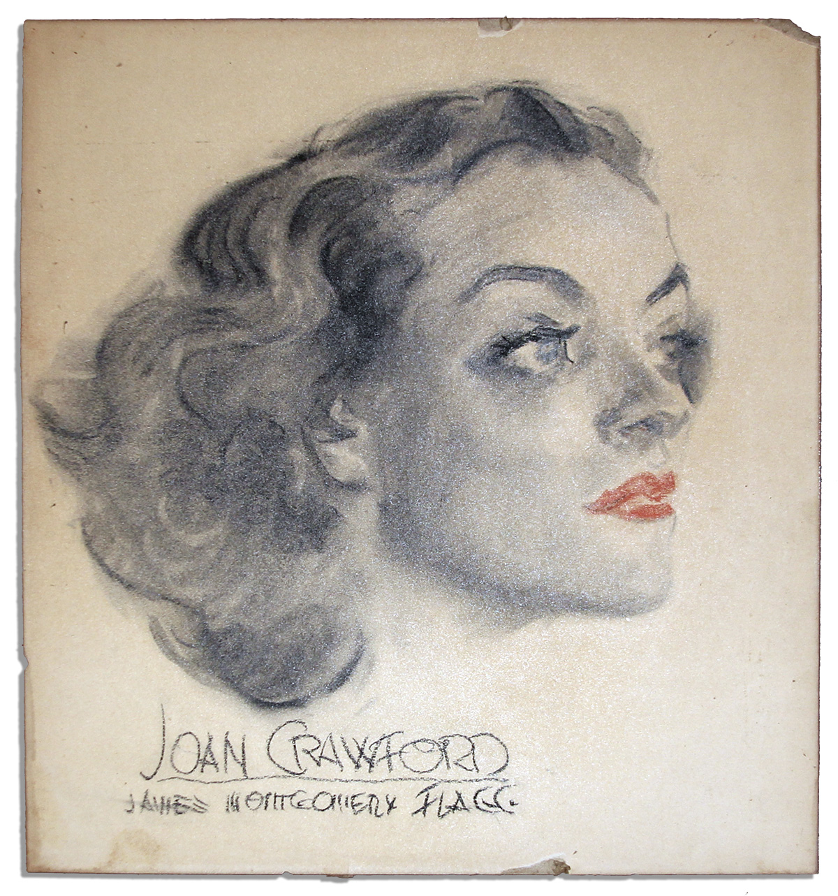 Joan Crawford Memorabilia James Montgomery Flagg Art