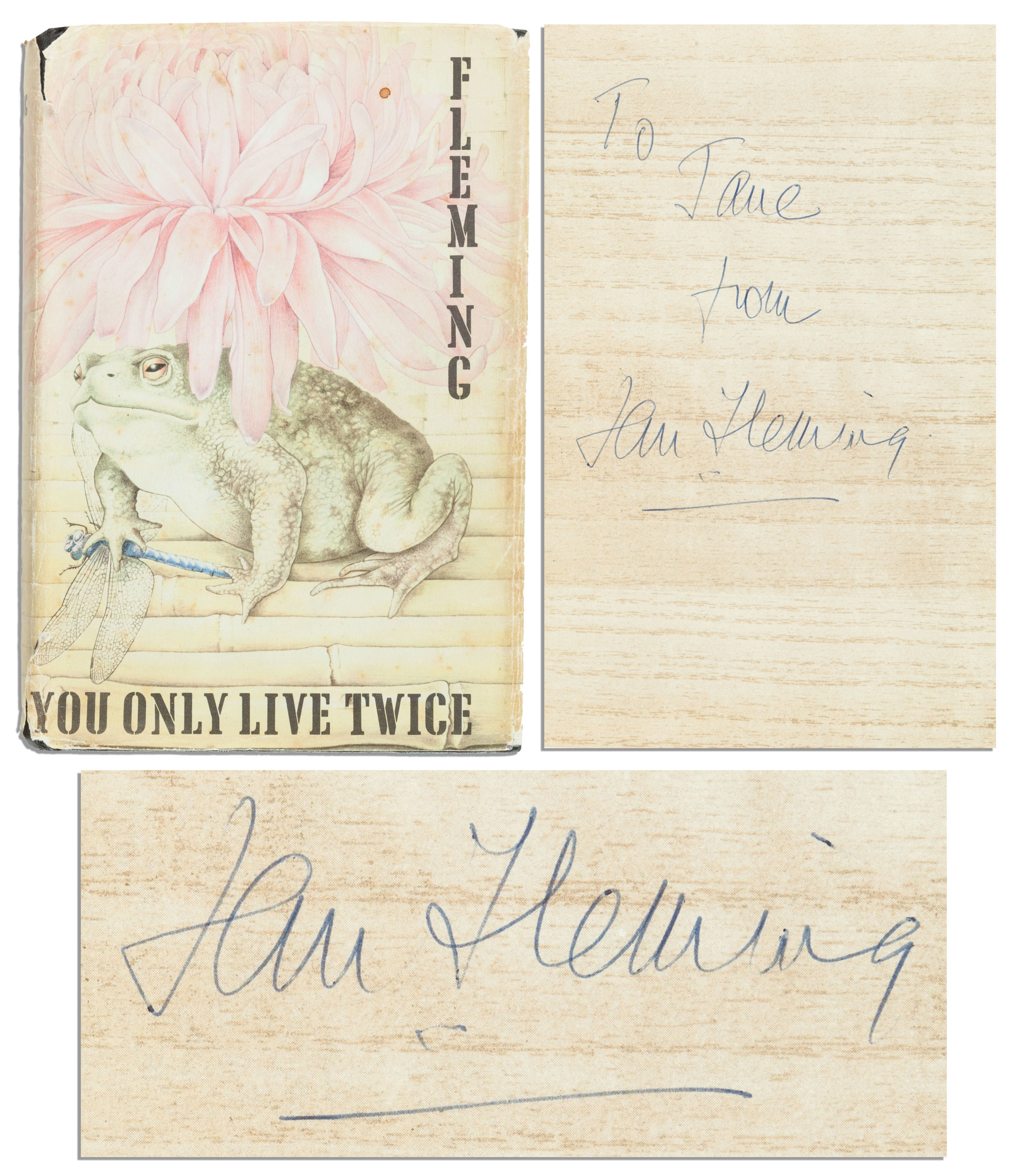 Ian Fleming First Edition Ian Fleming ''You Only Live Twice'' Signed First Edition -- Scarce