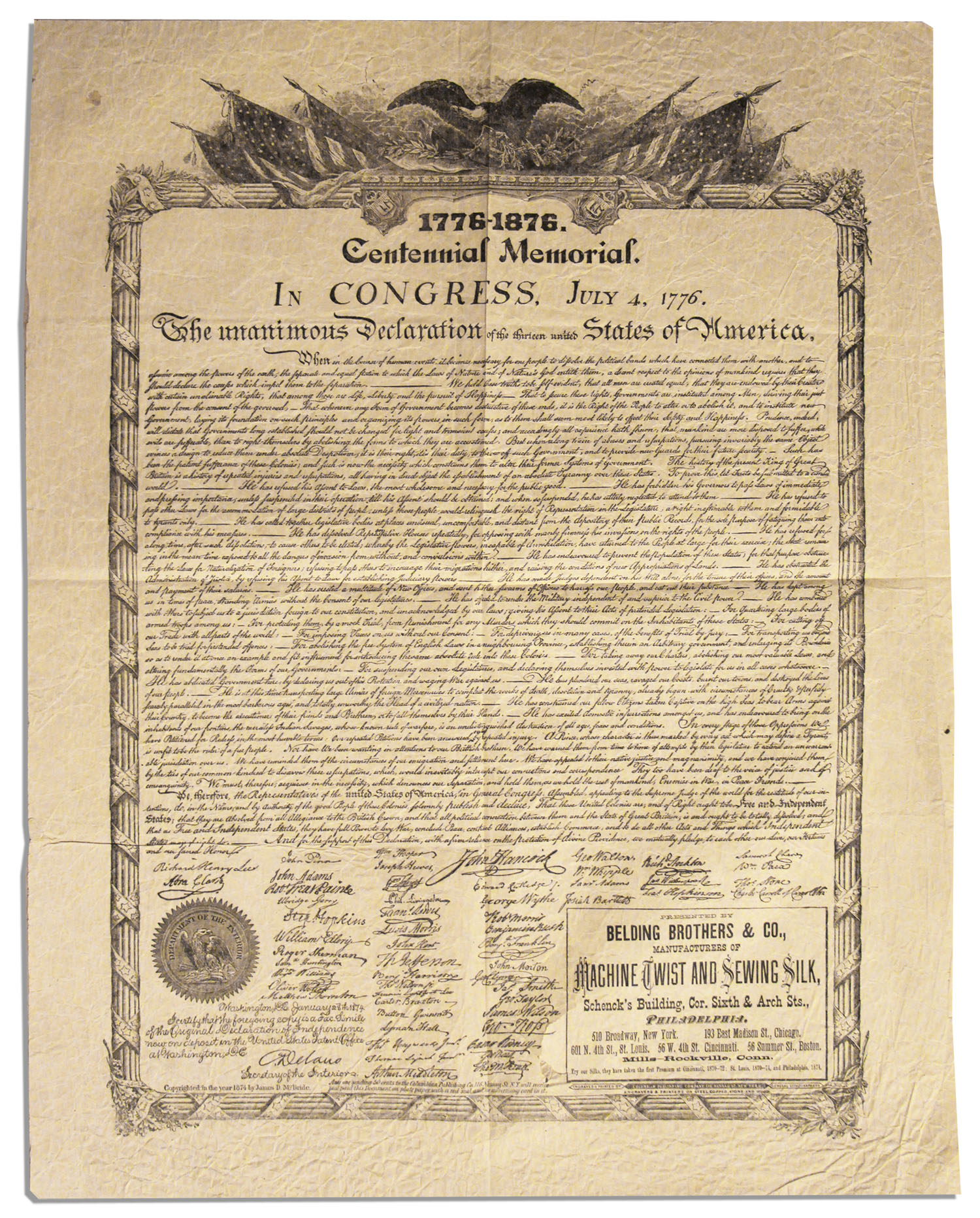 It's just an image of Shocking Printable Copy of the Declaration of Independence