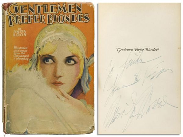 Rare Marilyn Monroe Signed ''Gentlemen Prefer Blondes'' -- The Novel That Inspired Her Most Iconic Role