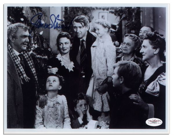 Lot Detail Jimmy Stewart Signed 10 39 39 X 8 39 39 Photo From 39 39 It 39 S A Wonderful Life 39 39 With Jsa Coa