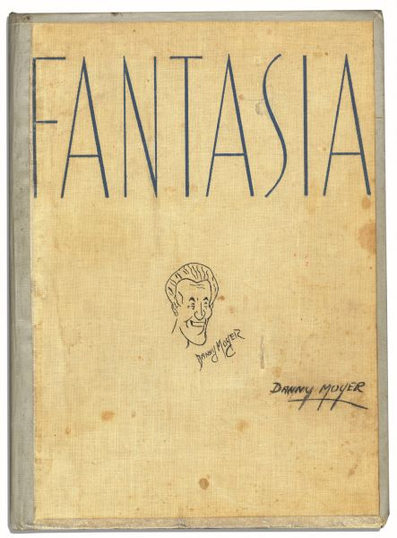 Fantastic Copy of ''Fantasia'' Signed by Walt Disney -- Beautiful, Oversized Book Signed by the Preeminent Animator -- With Various Personalized Illustrations & Art By Disney Illustrators