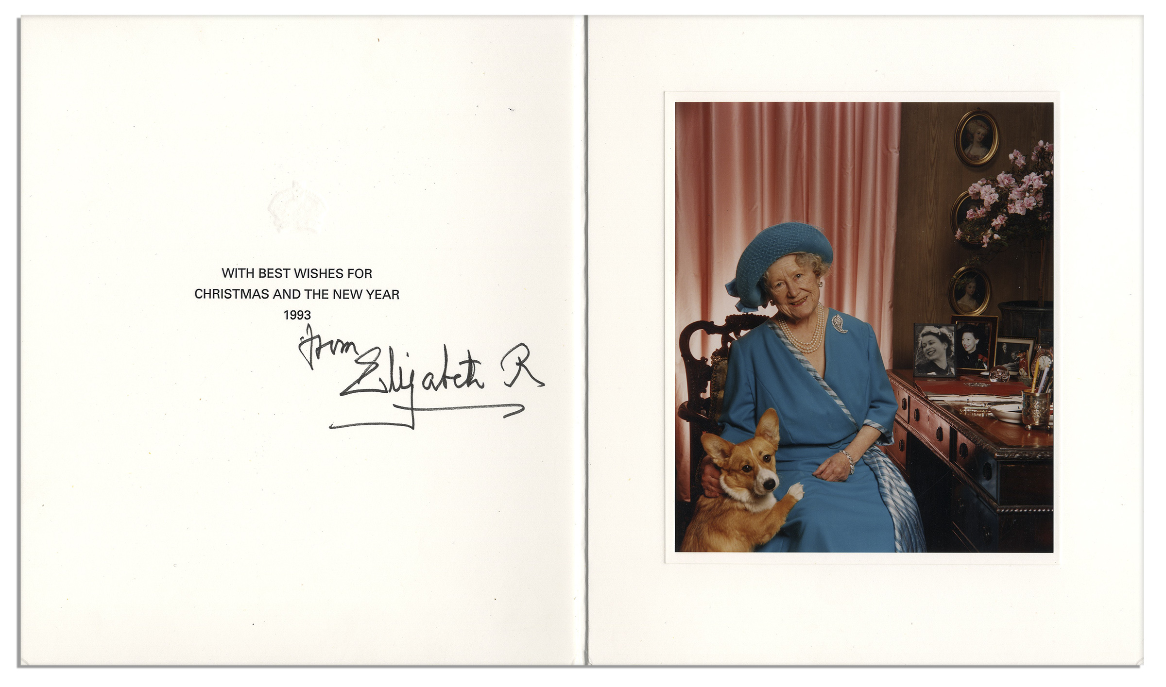 Lot Detail - Queen Elizabeth the Queen Mother 1993 Royal Christmas Card