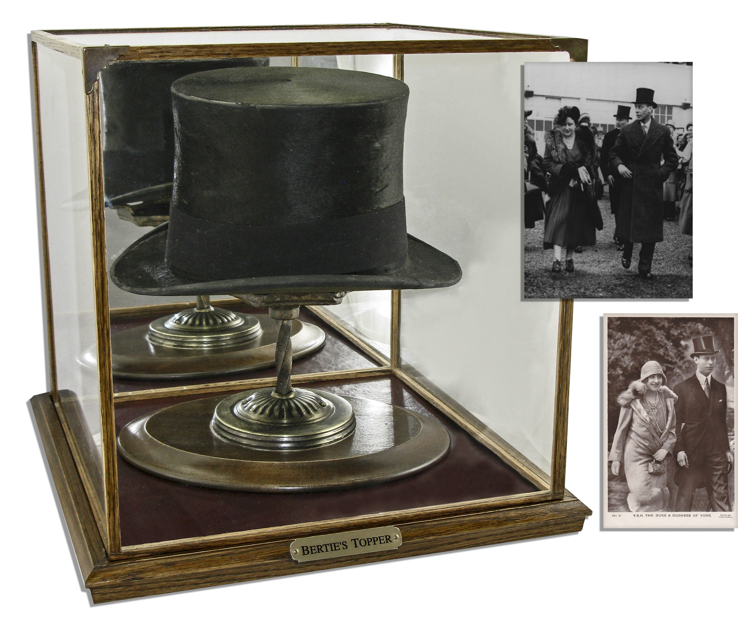 King George Memorabilia King George VI Worn Top Hat