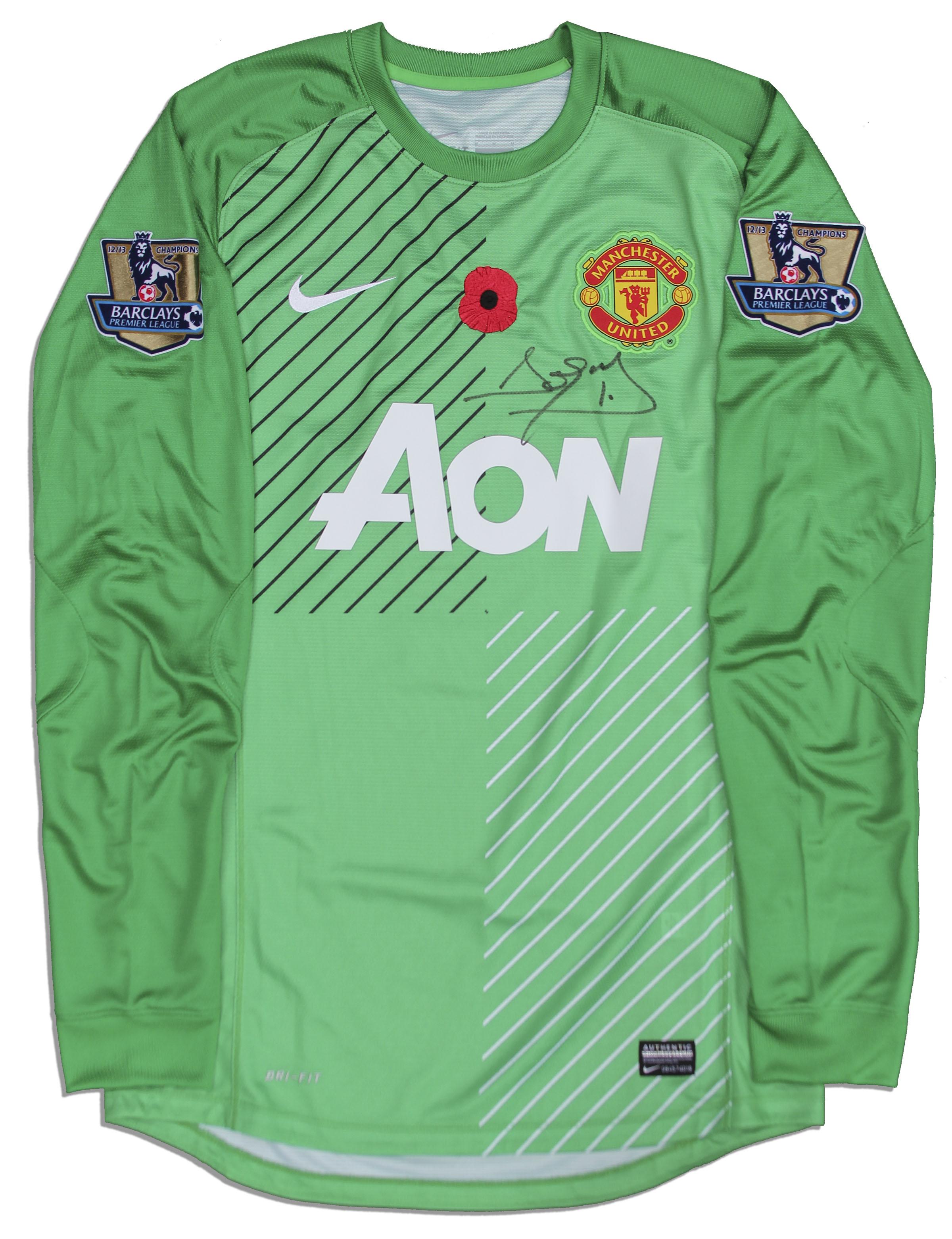 David DeGea Match Worn Manchester United Shirt Signed . e931f91b2