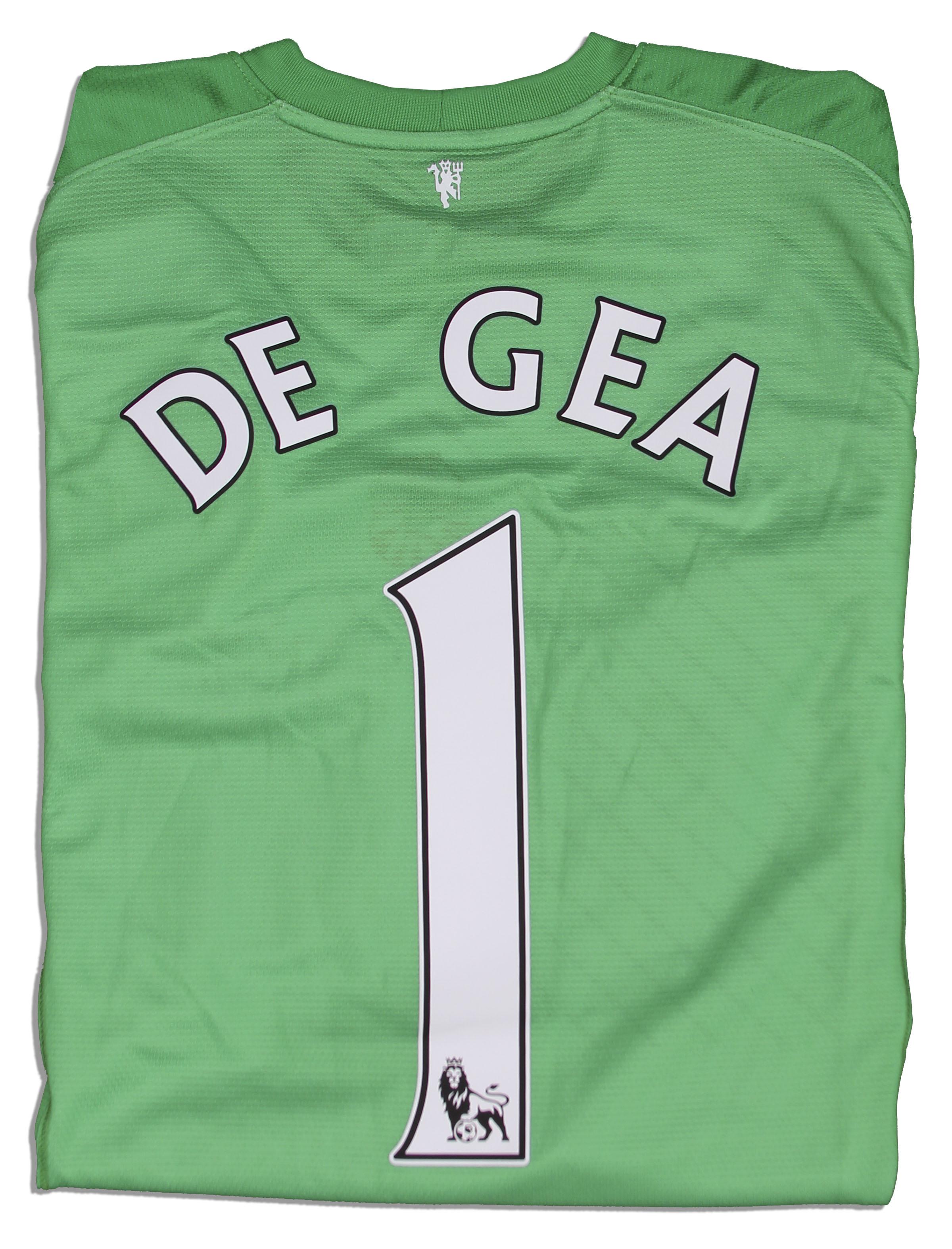 online retailer 37167 a992d Lot Detail - David DeGea Match Worn Manchester United Shirt ...