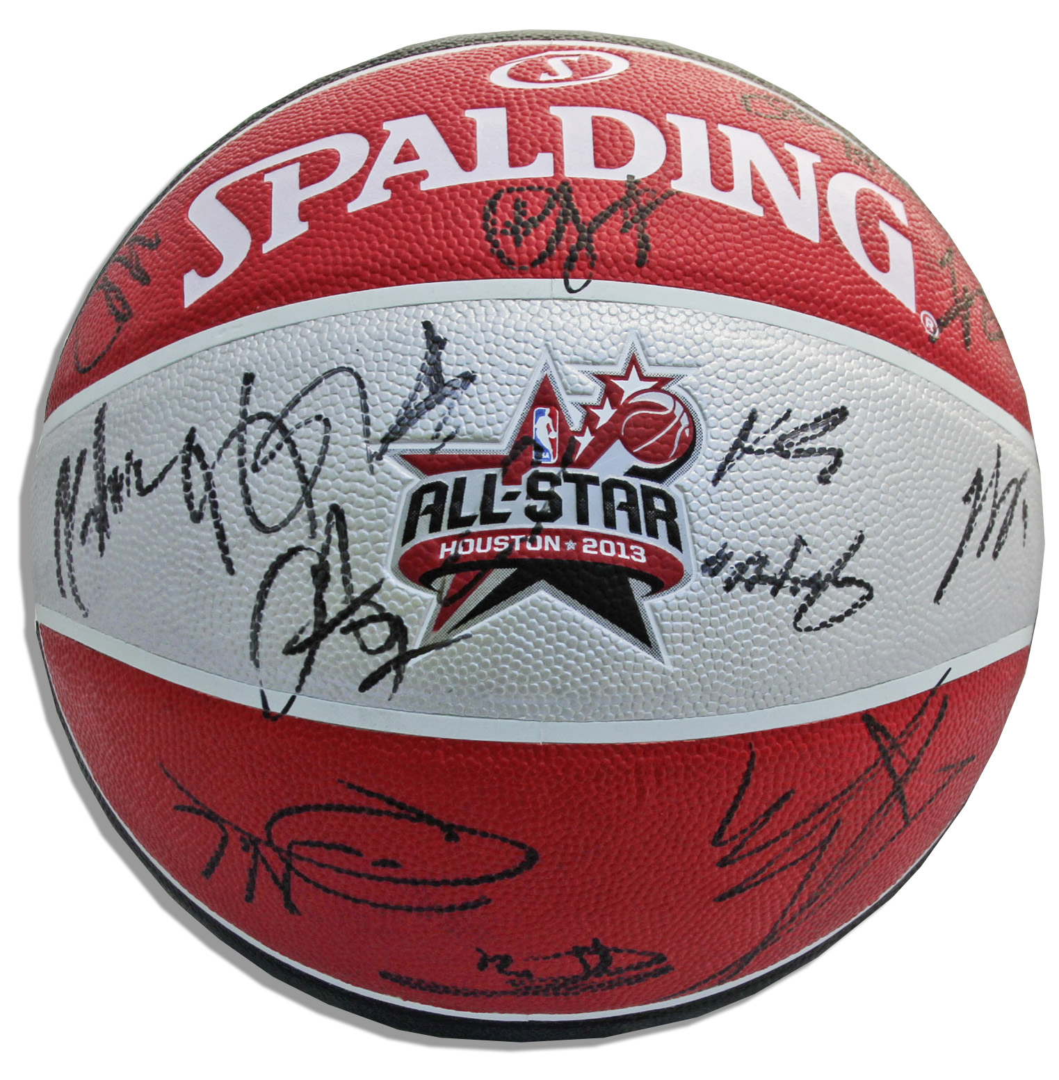 new style a02ea ac657 Lot Detail - NBA 2013 All-Star Basketball Signed by 24 ...